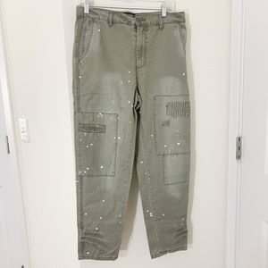 Slouch Tapered Painted Jeans